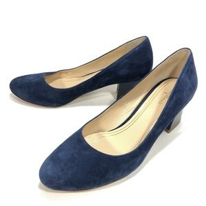 Cole Haan Chelsea Blue Suede Patent Leather Heels